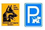 Hinweisschilder-Wachhunde