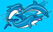 Fahne 3 Delfine 90 x 150 cm