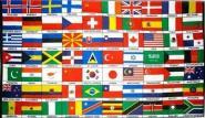 Fahne 70 Länder der Welt 90 x 150 cm