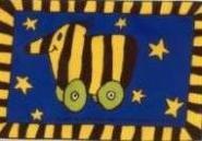 Stockflagge Tigerente 30 x 45 cm