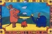 Stockflagge Maus Indianer 30 x 45 cm