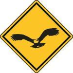 Aufkleber Vorsicht / Achtung Adler
