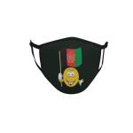 Gesichtsmaske Behelfsmaske Mundschutz schwarz Afghanistan Smily