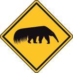 Aufkleber Vorsicht / Achtung Ameisenbär
