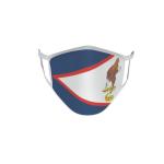 Gesichtsmaske Behelfsmaske Mundschutz Amerikanisch Samoa