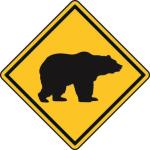 Aufkleber Vorsicht / Achtung Bär
