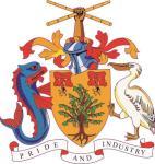 Aufkleber Barbados Wappen