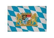 Aufnäher Bayern mit Löwenwappen Patch 9 x 6 cm
