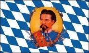 Stockflagge Bayern König Ludwig II 30 x 45 cm