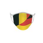 Gesichtsmaske Behelfsmaske Mundschutz Belgien-Deutschland L