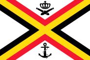 Flagge Belgien Seekriegsfahne