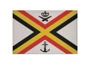 Aufnäher Belgien Seekriegsfahne Patch 9 x 6 cm