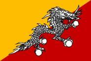 Aufkleber Bhutan