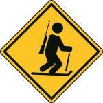 Aufkleber Vorsicht / Achtung Biathlon
