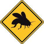 Aufkleber Vorsicht / Achtung Biene