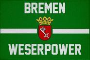 Aufnäher Bremen Weserpower Patch 9 x 6 cm