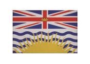 Aufnäher Patch British Columbia 9 x 6 cm