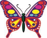 Aufkleber Bunter Schmetterling Motiv Nr. 1