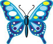 Aufkleber Bunter Schmetterling Motiv Nr. 6