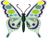 Aufkleber Bunter Schmetterling Motiv Nr. 8