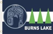Fahne Burns Lake Village (British Columbia) 90 x 150 cm