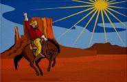 Aufnäher Cowboy und Indianer Motiv Nr. 16 Patch 9 x 6 cm