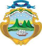Aufkleber Costa Rica Wappen