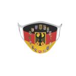 Gesichtsmaske Behelfsmaske Mundschutz Deutschland Adler 16 Bundesländer Wappen L