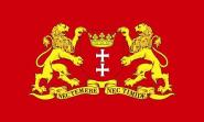 Aufkleber Danzig mit großem Wappen