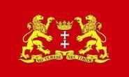 Flagge Danzig mit großem Wappen