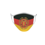Gesichtsmaske Behelfsmaske Mundschutz DDR NVA Truppenfahne L