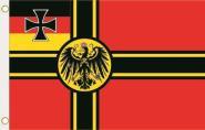 Fahne Deutscher Widerstand Kriegsflagge  Preußen Adler 90 x 150 cm