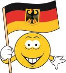Aufkleber Smily Smiley mit Deutschland Adler Fahne 20 x 22 cm