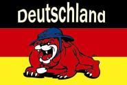 Flagge Deutschland Bulldogge