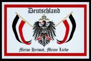 Aufnäher Patch Deutschland meine Heimat meine Liebe 9 x 6 cm