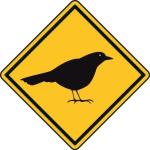 Aufkleber Vorsicht / Achtung Drossel