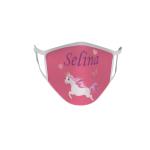 Gesichtsmaske Behelfsmaske Mundschutz Einhorn 1 mit Wunschname
