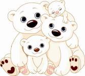 Aufkleber Eisbärenfamilie