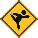 Aufkleber Vorsicht / Achtung Eiskunstlauf