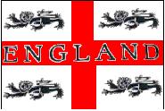 Stockflagge England 4 Löwen 30 x 45 cm