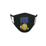 Gesichtsmaske Behelfsmaske Mundschutz schwarz Europa Smily