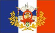 Flagge Frankreich mit historischem Wappen