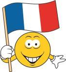 Aufkleber Smily Smiley mit Frankreich Fahne
