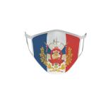 Gesichtsmaske Behelfsmaske Mundschutz Frankreich hist. Wappen L