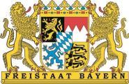 Aufkleber Freistaat Bayern Wappen
