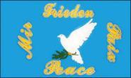 Stockflagge Friedenstaube 30 x 45 cm