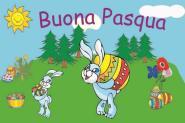 Flagge Frohe Ostern Italienisch