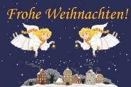 Flagge Frohe Weihnachten Engel Deutsch