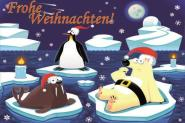 Flagge Frohe Weihnachten Polar Deutsch