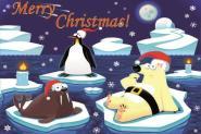 Flagge Frohe Weihnachten Polar Englisch